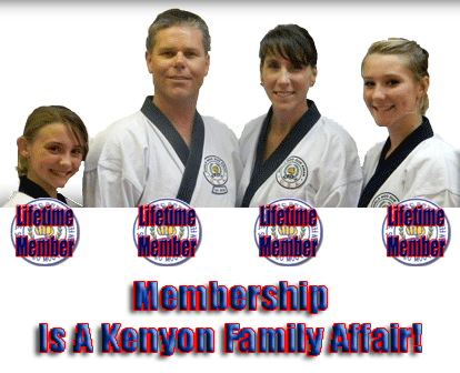 Membership Is A Kenyon Family Affair!<br /><span style='font-family: arial, helvetica, sans-serif; font-size: 12pt; color: teal;'>Join These Masters And Others At The 36th National Festival And Dan Leadership Convention!</span>